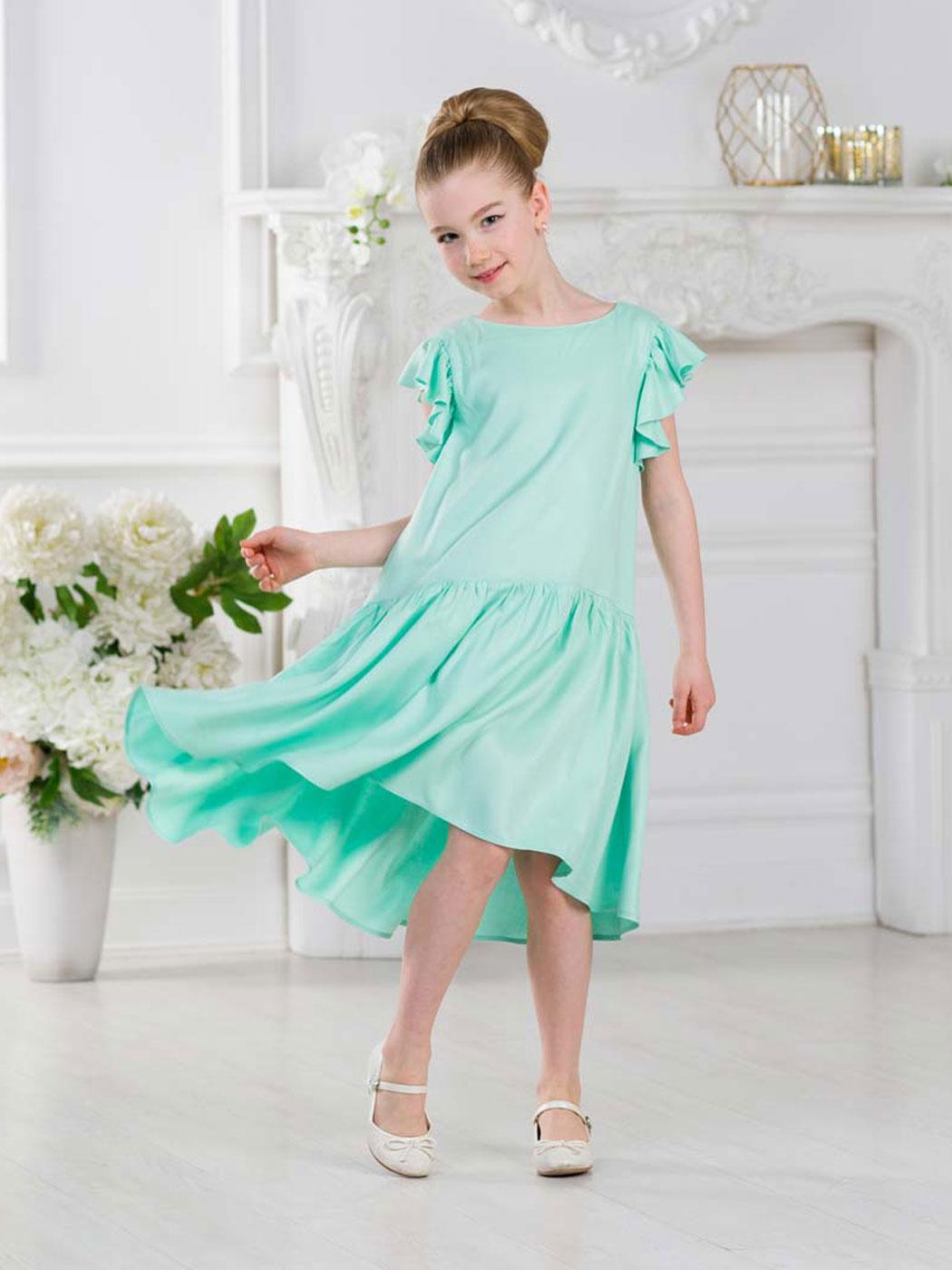 f37425af779 Детское платье «Вдохновение» бирюзовое от интернет-магазина одежды для девочек  Красавушка